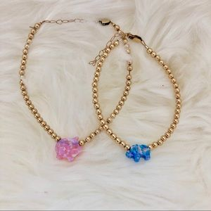 Genuine opal and gold filled beaded bracelets